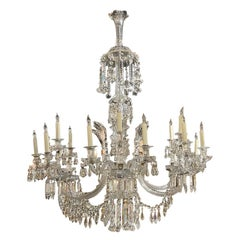 19th Century French Baccarat Crystal 18 Light Chandlier