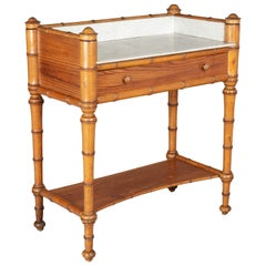 19th Century French Faux Bamboo Console Table