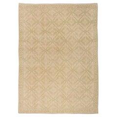 Vintage Spanish Botanic Handmade Wool Carpet