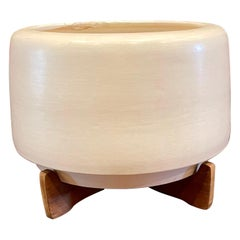 Architectural Pottery Planter with Base by Rex Goode and John Follis