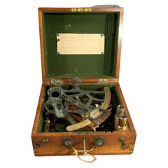 Solid Brass Ships Sextant in Box