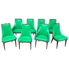 Set of 8 Kipp Stewart Mid Century Modern Dining Chairs