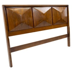 United Furniture Mid Century Diamond Walnut Queen Headboard