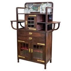 Art Nouveau Mahogany Cabinet, Early 1900's