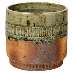 Barbara Delfosse Large Stoneware Ceramic Vase Pot La Borne XXth Century Design