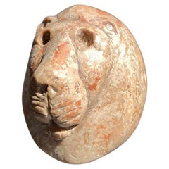 Sumerian Red-veined Marble Macehead Lion's Head, 3rd Mill. BC