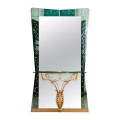 Mirror by Pierluigi Colli for Cristal Art, Italy, 1970s