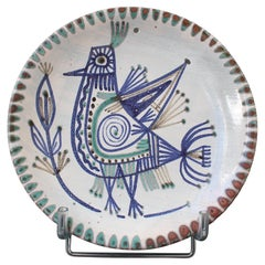 Mid-Century French Ceramic Decorative Plate by Le Mûrier 'circa 1960s'