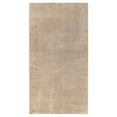 One-of-a-Kind Vintage Chinese Abstract Handmade Wool Rug