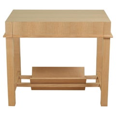 Jacques Adnet Side Table in Figured Ash