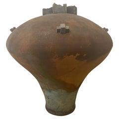 Large Signed Raku Pottery