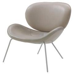 Amura 'Uchiwa' Chair in Gray Leather by Andrea Quaglio & Manuela Simonelli