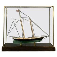"Brass Case Ship Model ""America"""