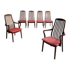 Danish Modern Dining Chairs By Preben Schou