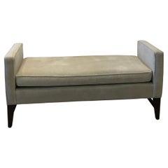 Long Modern Upholstered In Cotton Velvet Hall Bench