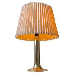 Large Scandinavian Trumpet Table Lamp in Brass, Fog & Mørup 1970s