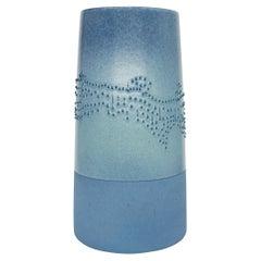 Volcano Large Blue Glazed Porcelain Vase, in Stock