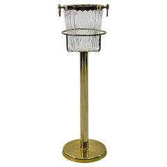Brass Champagne & Ice Bucket Stand
