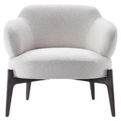 Marelli Sign Armchair By Paolo Salvade in Boucle Upholstery