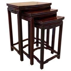 Chinese Hong-Mu Nest of Tables Set of Three