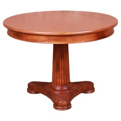 Baker Furniture Italian Empire Maple Pedestal Breakfast Table, Newly Refinished