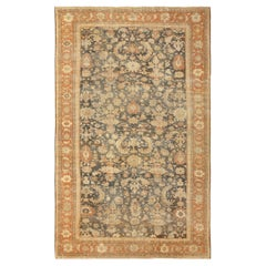 Large Gray Antique Sultanabad Persian Rug. Size: 10 ft x 17 ft 3 in