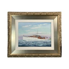 Painting of the Yacht Fury II by John Austin Taylor