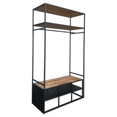 New Open Wardrobe or Coat Rack with Shoes Compartment or Bench
