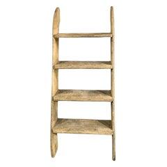 Four Step Wood Ships Deck Ladder
