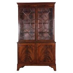 English Georgian Revival Mahogany Bookcase