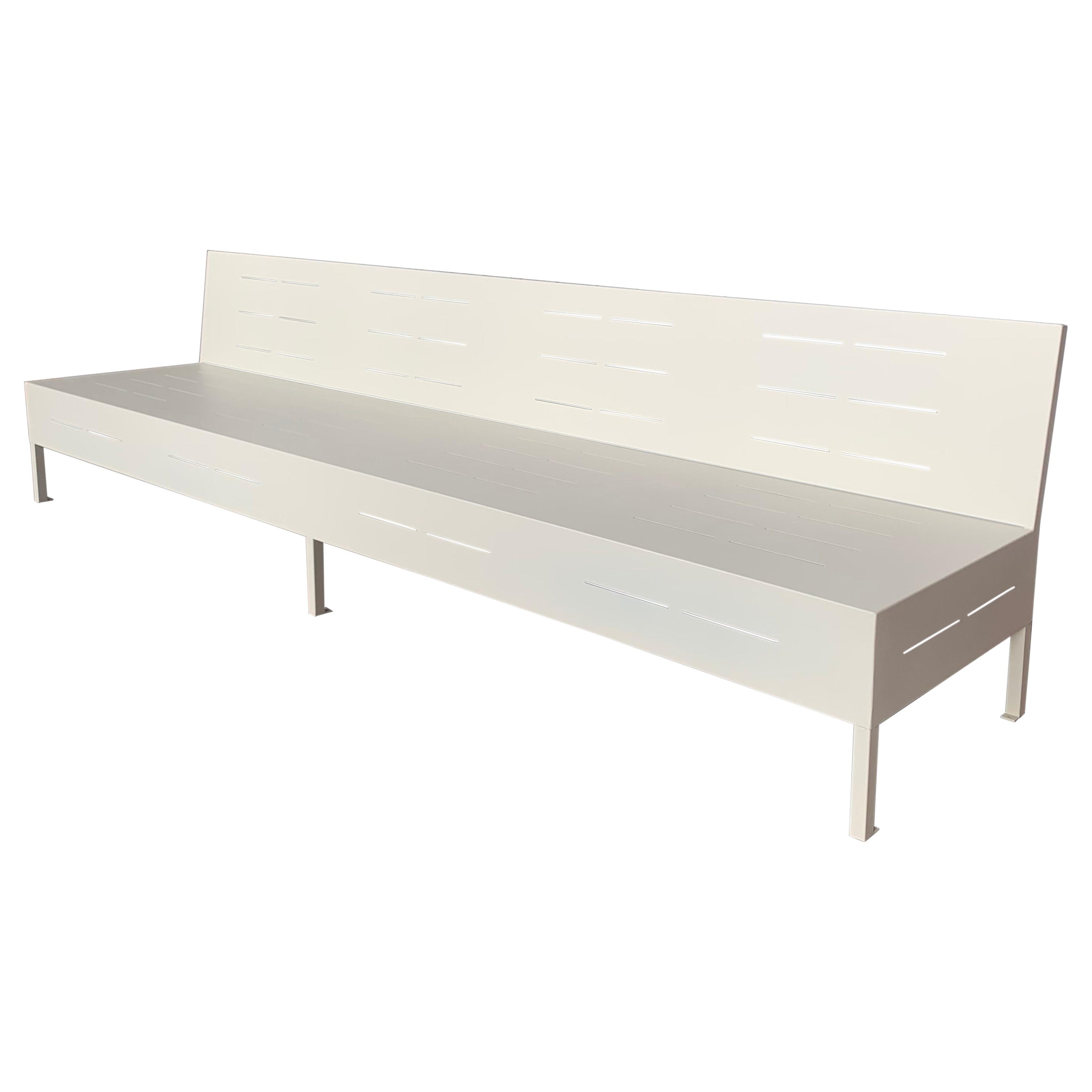 New Large Iron Hall Bench for Outdoor and Indoor with Epoxy Finished