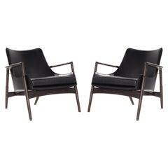 Easy Chairs by Ib Kofod-Larsen, Denmark, 1950s