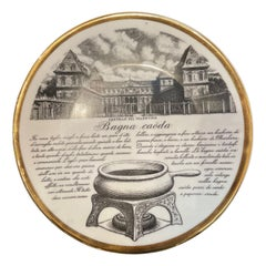 Fornasetti Recipe Plate from the Torinesi Specialties Series N.4