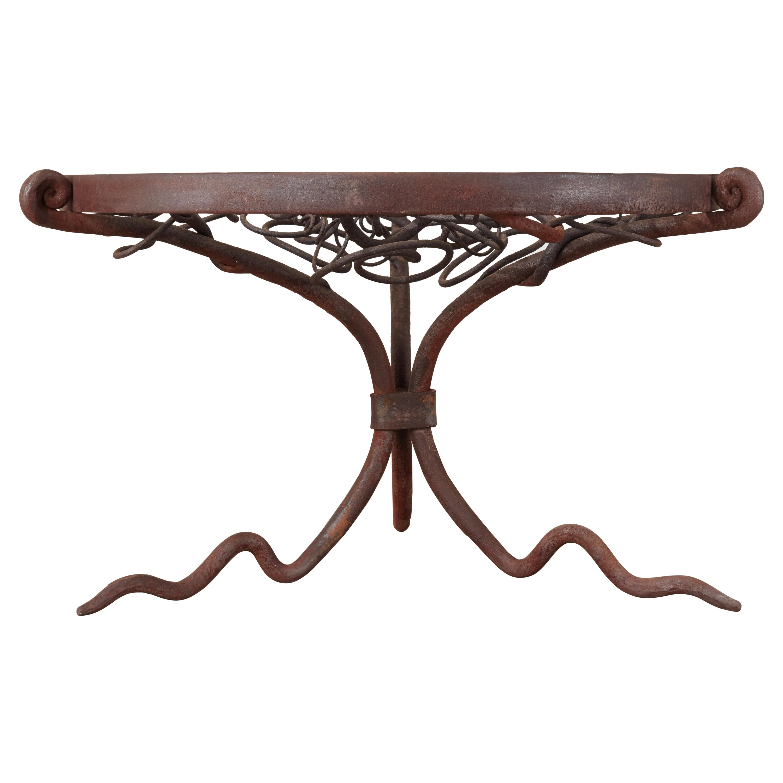 Monumental Midcentury Brutalist Center or Garden Table Sculpture