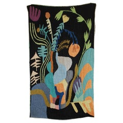 Abstract Arrangement in Vase Tapestry Tapestry Wall Hanging Woven Artwork