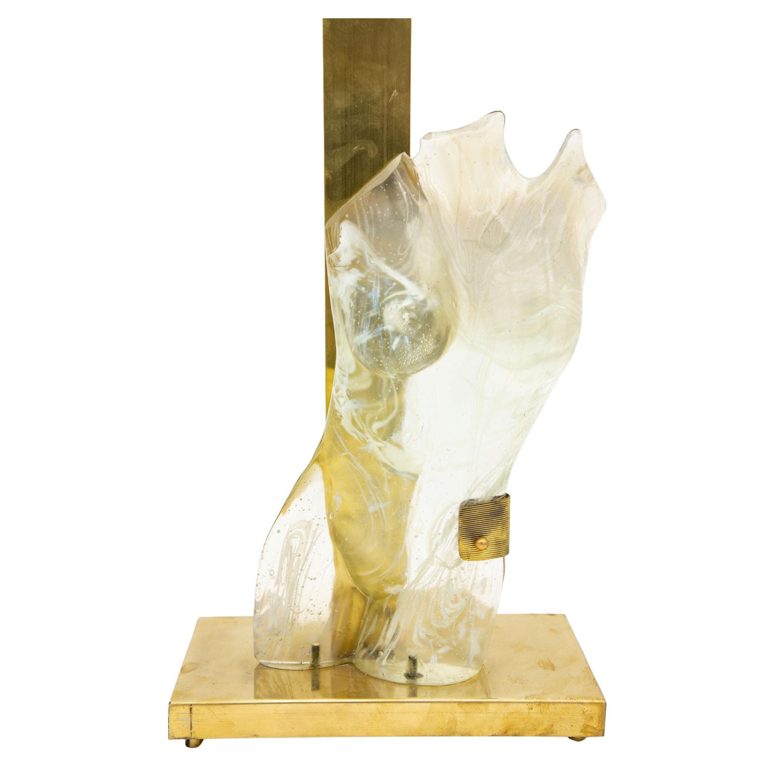 Female Figure Murano Glass Lamp
