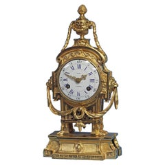 Early Louis XVI French Ormolu Mantle Clock by Leon A Paris