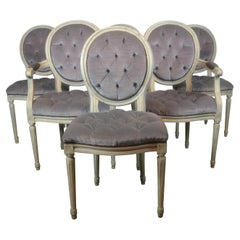 Louis XVI Style Dining Chairs Set of 6