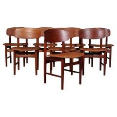 Børge Mogensen Eight Dining Chairs, Teak