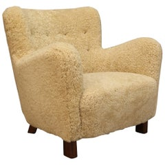 Fritz Hansen, Lounge Chair Shearling, 1940s