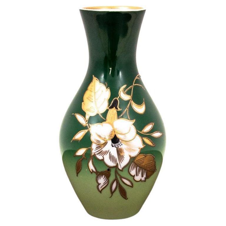Porcelain Green Vase by Wallendorf, Germany