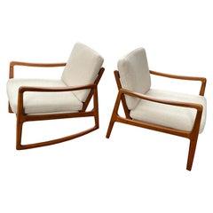 Ole Wanscher Teak Chair and Rocker/ Sold as a Pair