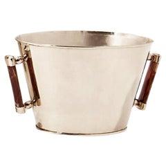 VALLE Medium Alpacal Silver & Brown Onyx Stone Champagne Bucket