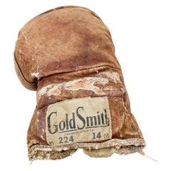 Antique Sport Distressed Brown Leather Boxing Glove Goldsmith Cincinnati Ohio