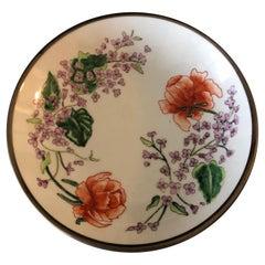 Vintage Imari Japanese Green and Orange Decorative Plate