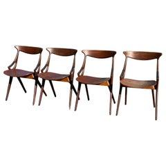 4 Dining Chairs by Arne Hovmand Olsen for Mogens Kold, Denmark, 1959