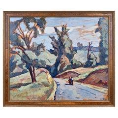 "Edgar Nye 'American 1879-1943' Oil on Board Titled ""Going Home"" #24"