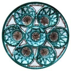 Rare Ceramic Oyster Plate Robert Picault Circa 1950