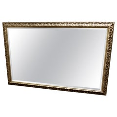Large 20th Century Arts and Crafts Style Pewter Finish Wall Mirror