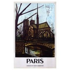 French Railways SNCF 1967 Paris Travel Poster, Bernard Buffet